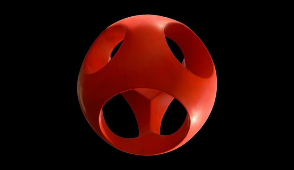 Guillaume de Saint Phalle - Red Apple - Tek ancien - Diam 60 cm - Bombay 2006