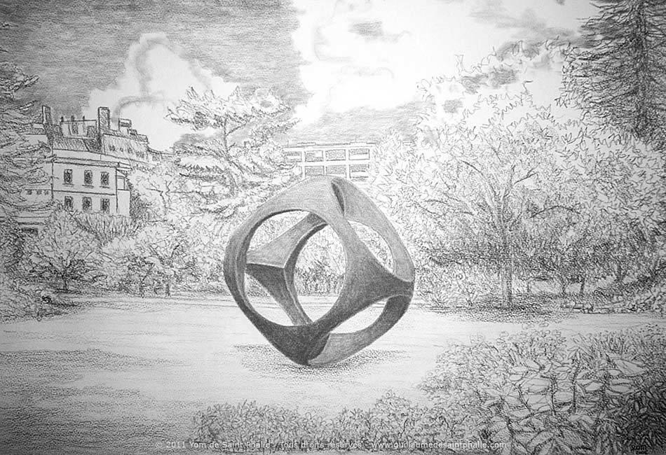 Guillaume de Saint Phalle, dessins et mine de plomb